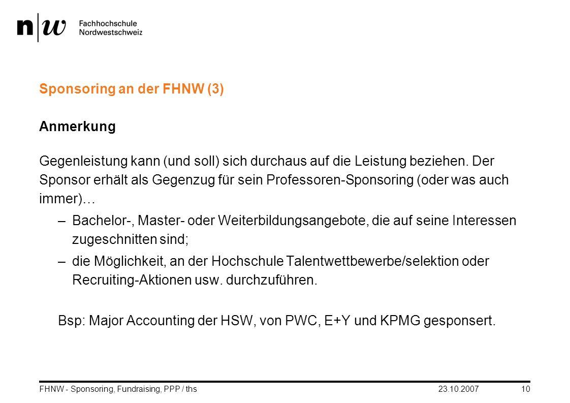 Sponsoring an der FHNW (3)