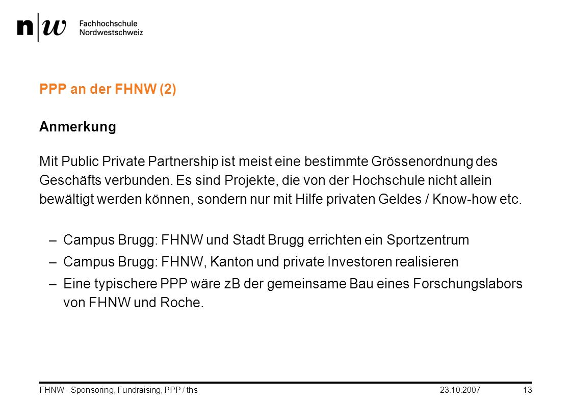 Campus Brugg: FHNW und Stadt Brugg errichten ein Sportzentrum