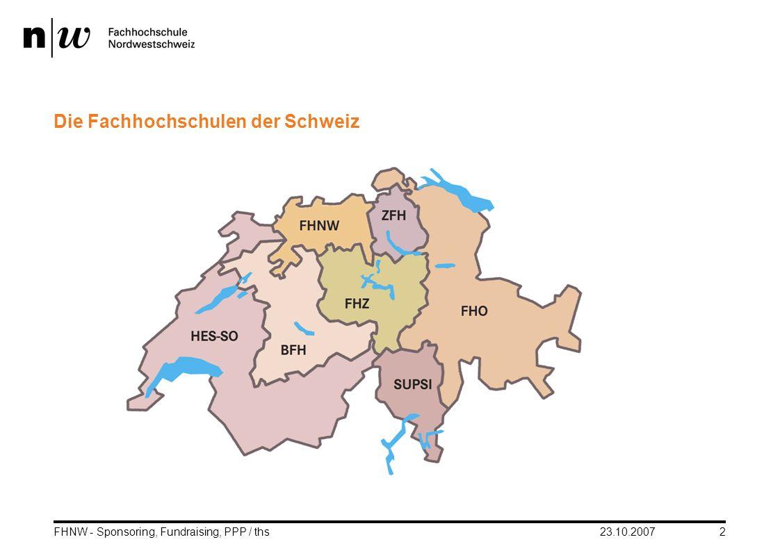 Die Fachhochschulen der Schweiz