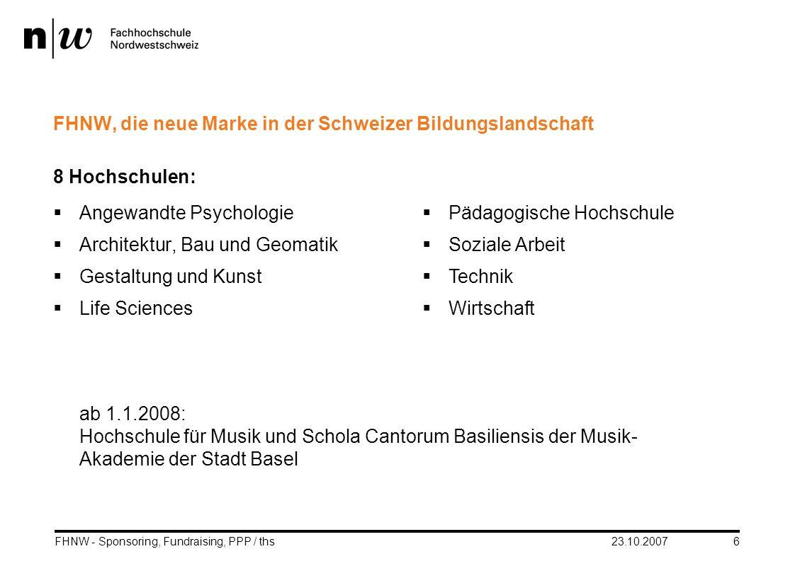 FHNW, die neue Marke in der Schweizer Bildungslandschaft