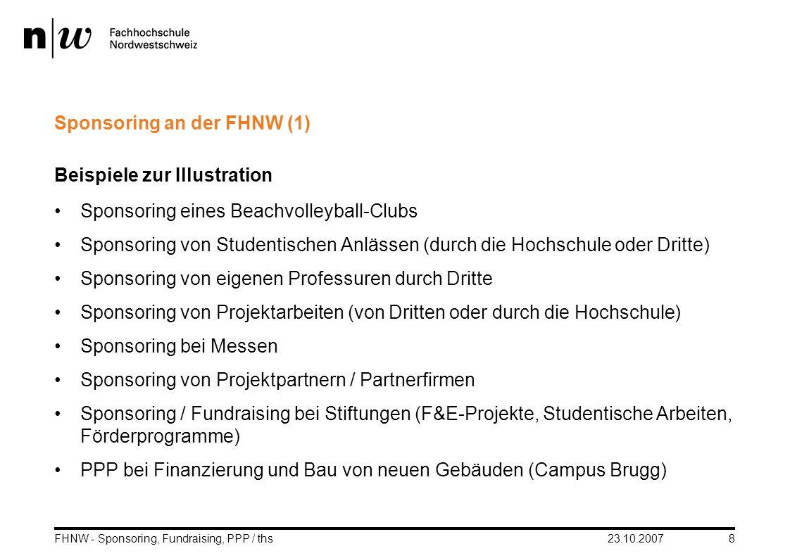 Sponsoring an der FHNW (1)