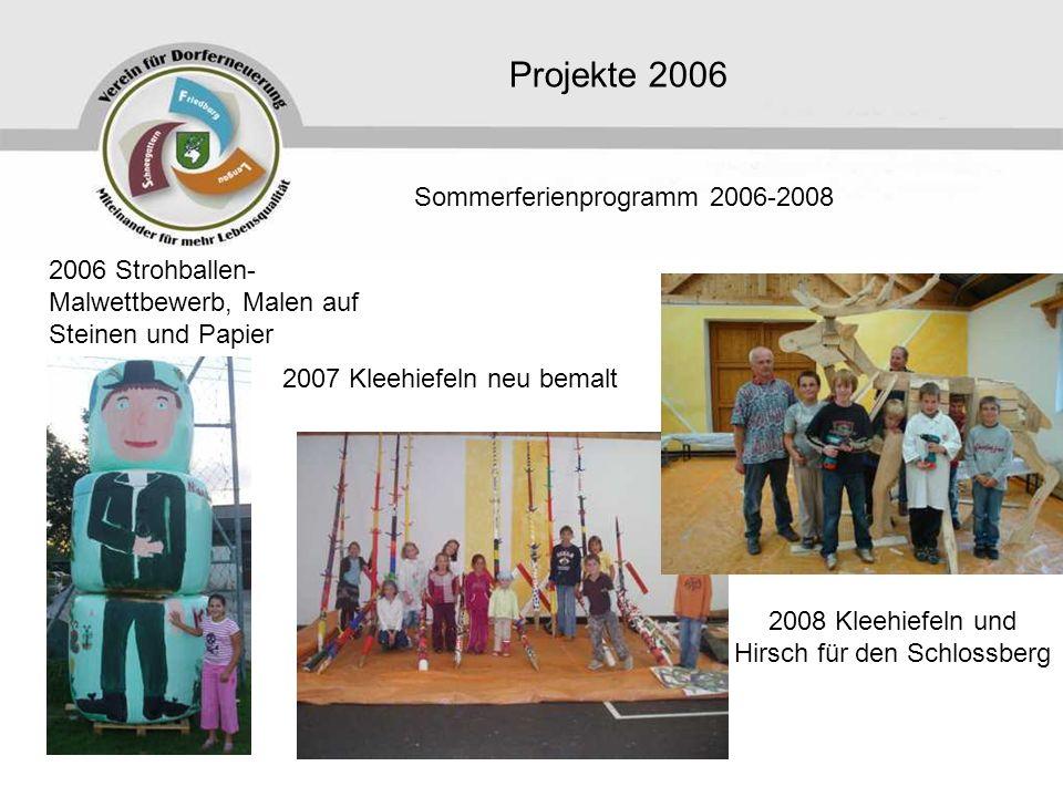 2008 Kleehiefeln und Hirsch für den Schlossberg