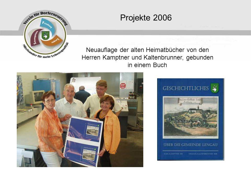 Projekte 2006 Neuauflage der alten Heimatbücher von den Herren Kamptner und Kaltenbrunner, gebunden in einem Buch.