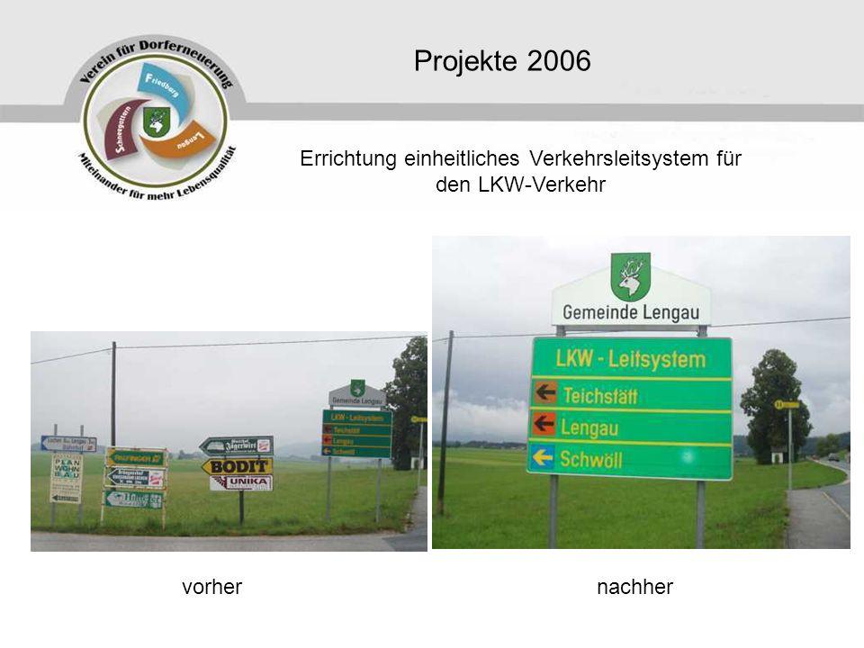 Errichtung einheitliches Verkehrsleitsystem für den LKW-Verkehr