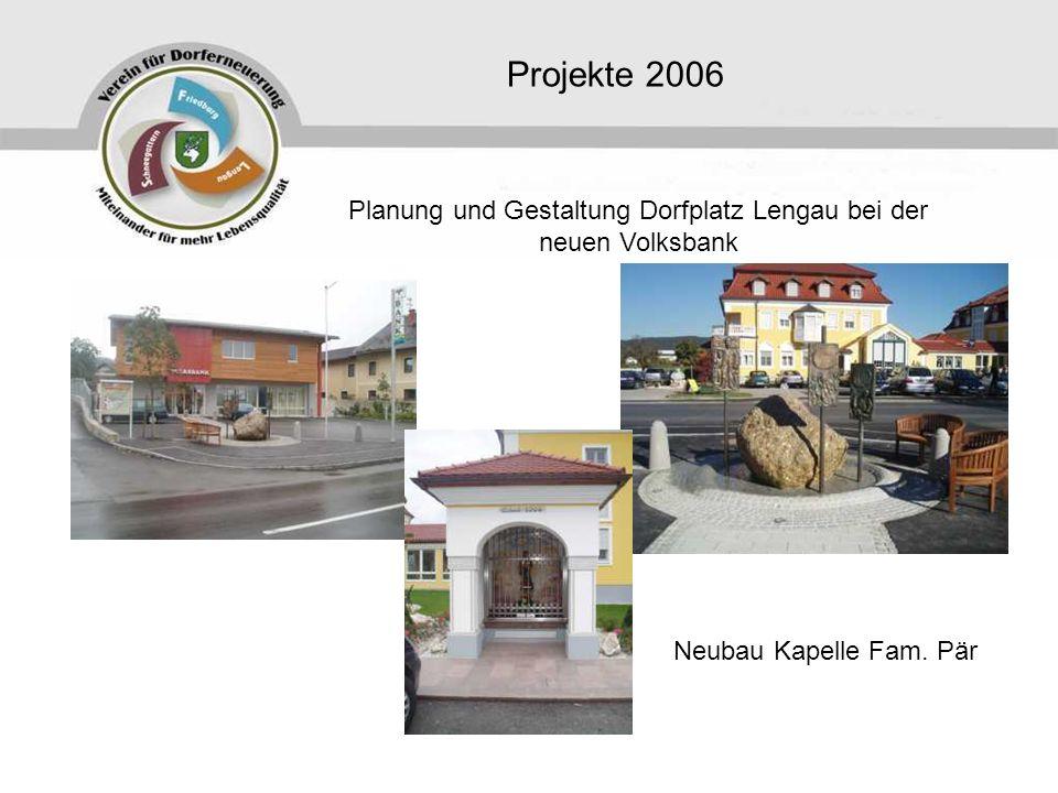 Planung und Gestaltung Dorfplatz Lengau bei der neuen Volksbank
