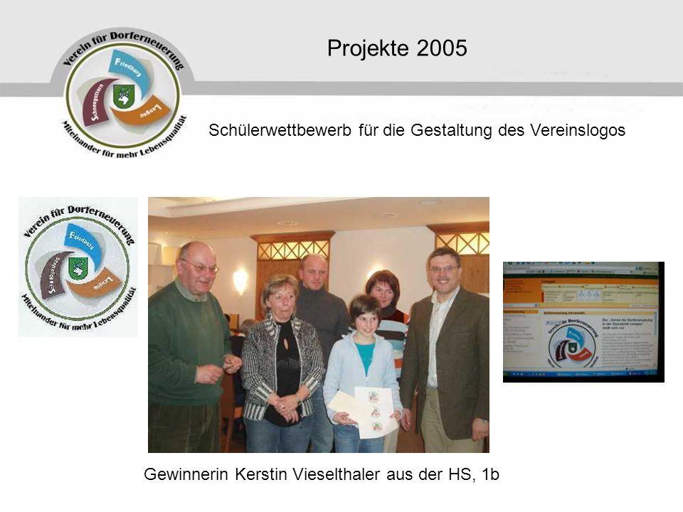Projekte 2005 Schülerwettbewerb für die Gestaltung des Vereinslogos