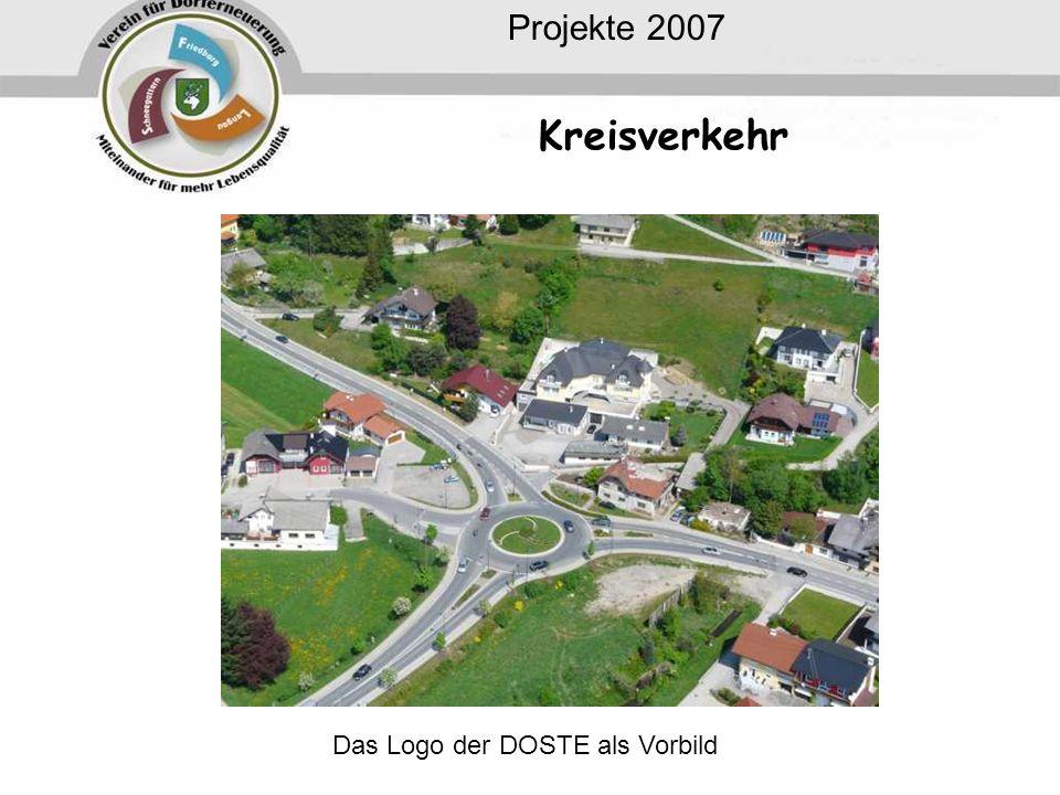 Projekte 2007 Kreisverkehr Das Logo der DOSTE als Vorbild