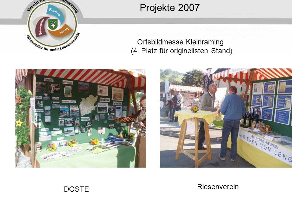 Ortsbildmesse Kleinraming (4. Platz für originellsten Stand)