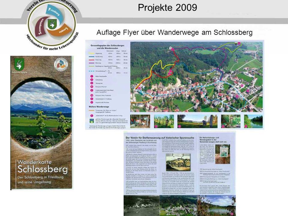 Auflage Flyer über Wanderwege am Schlossberg