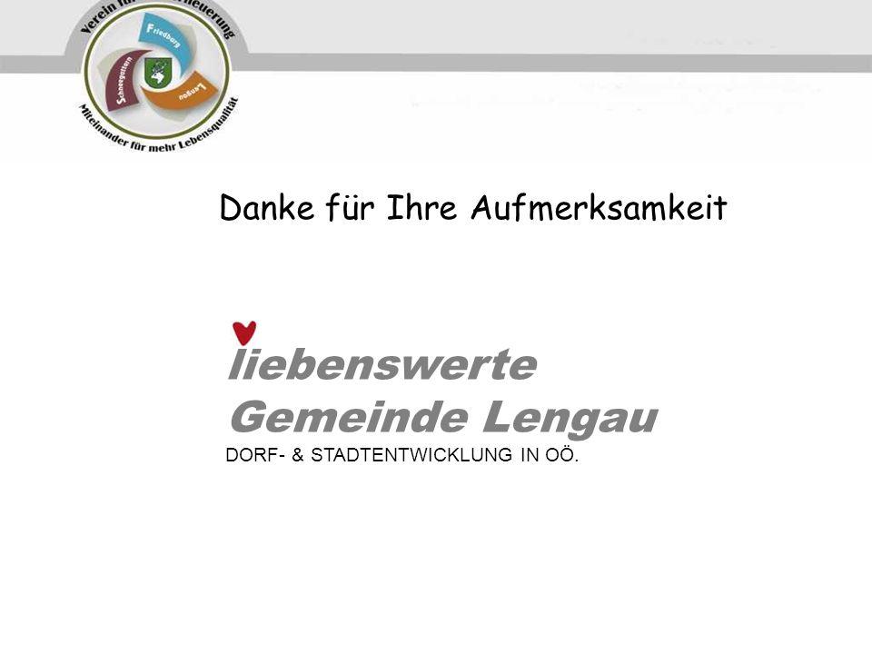 liebenswerte Gemeinde Lengau Danke für Ihre Aufmerksamkeit