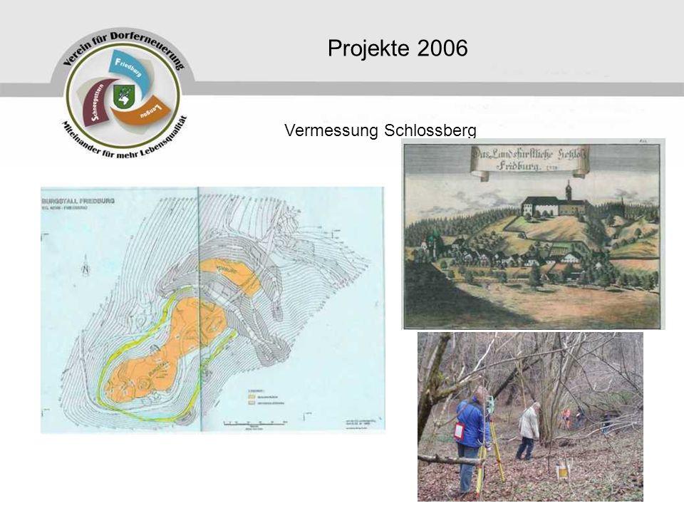 Projekte 2006 Vermessung Schlossberg