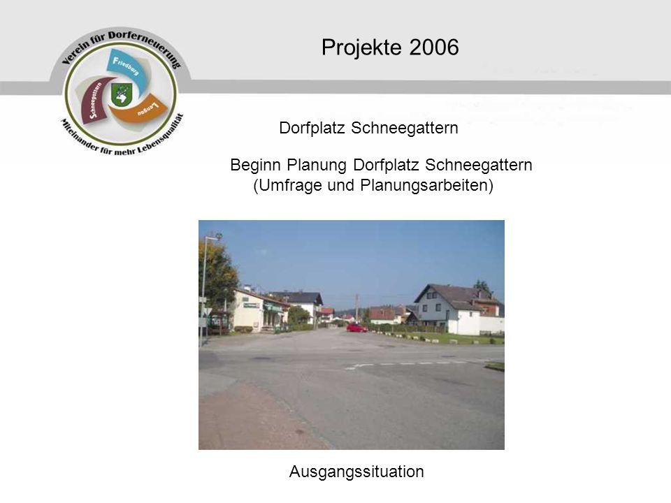 Beginn Planung Dorfplatz Schneegattern (Umfrage und Planungsarbeiten)