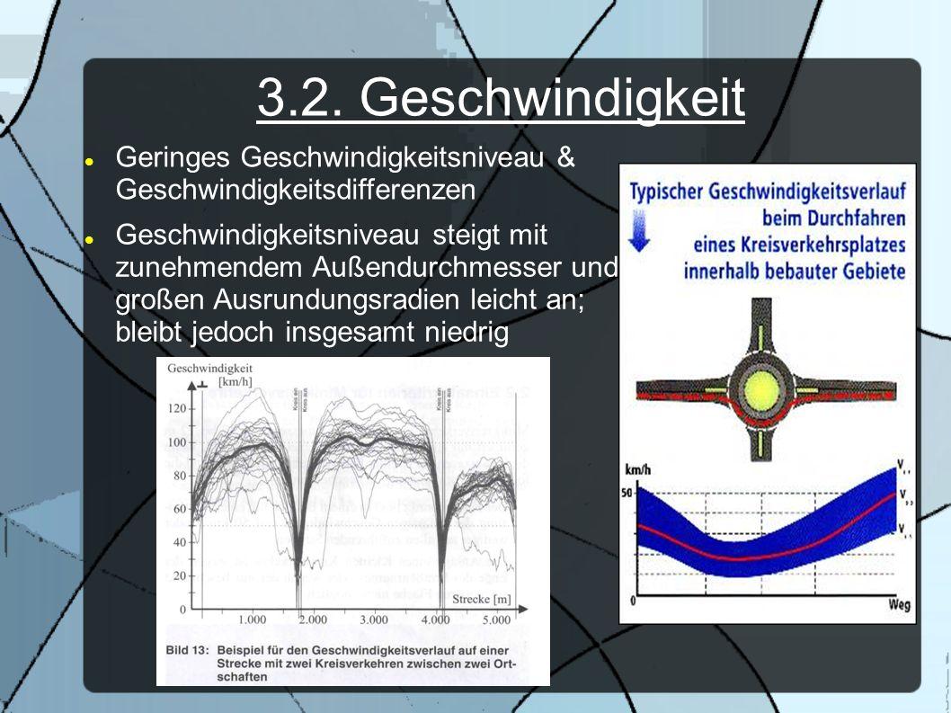 3.2. GeschwindigkeitGeringes Geschwindigkeitsniveau & Geschwindigkeitsdifferenzen.