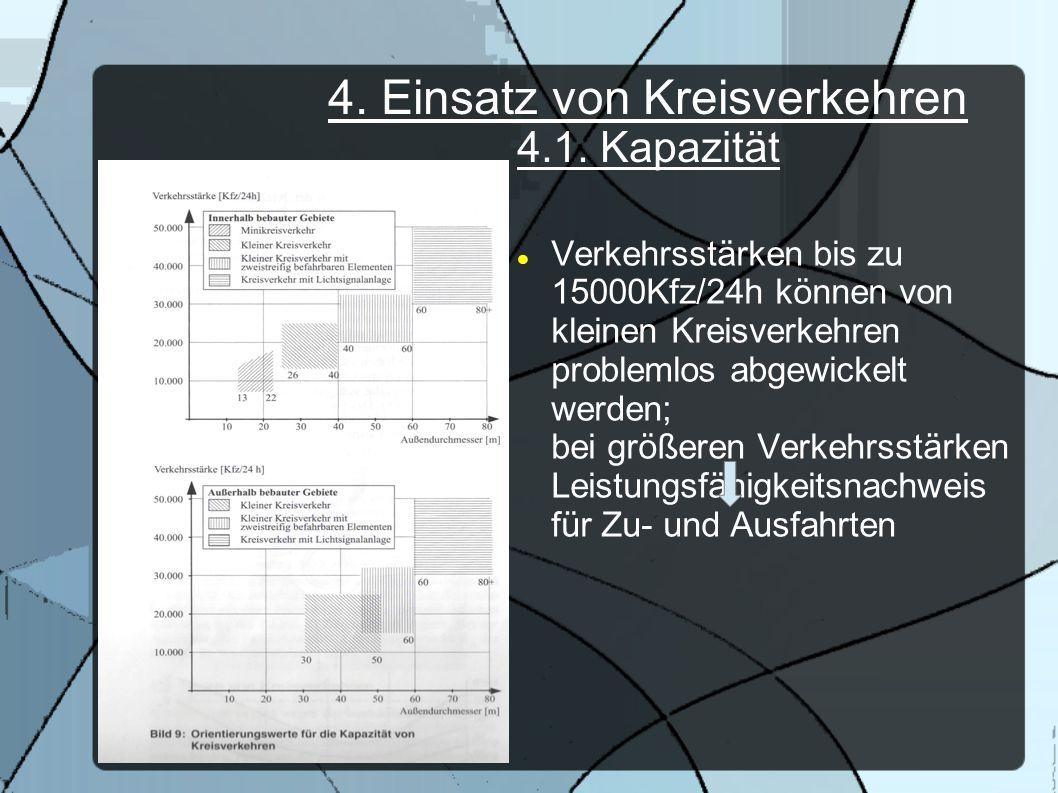 4. Einsatz von Kreisverkehren 4.1. Kapazität