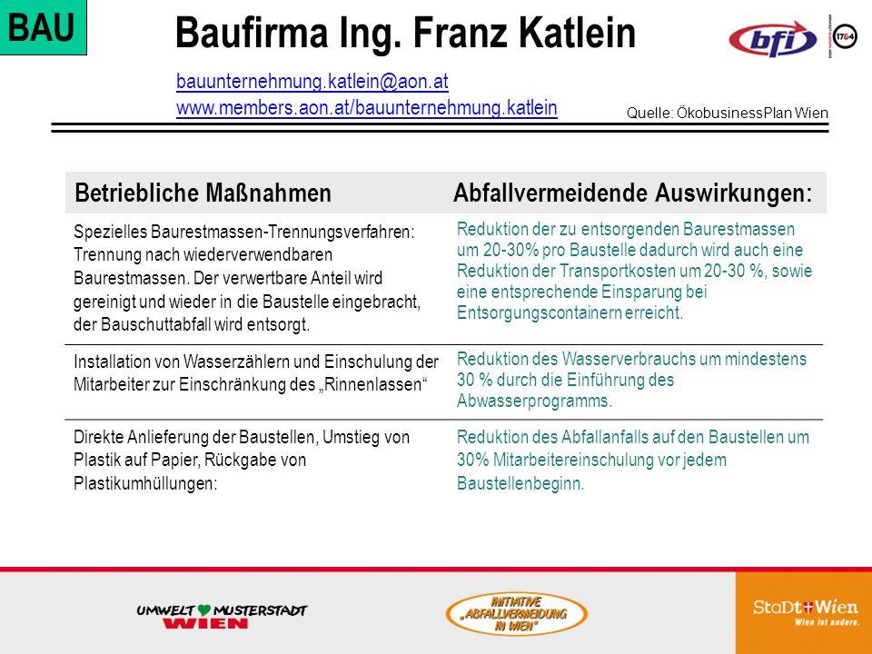 Baufirma Ing. Franz Katlein