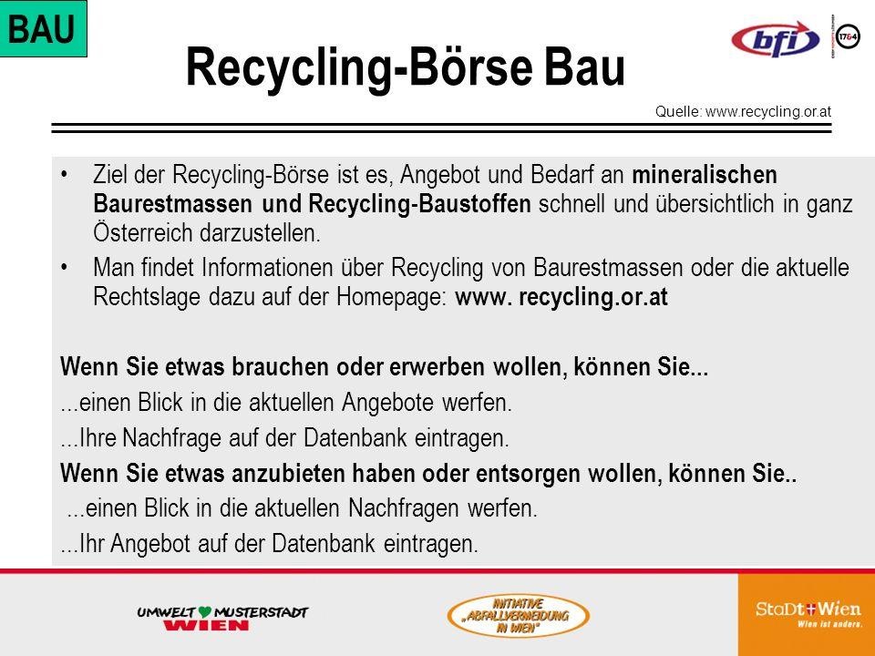 Recycling-Börse Bau BAU