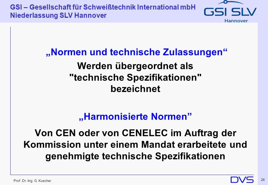 """""""Normen und technische Zulassungen"""