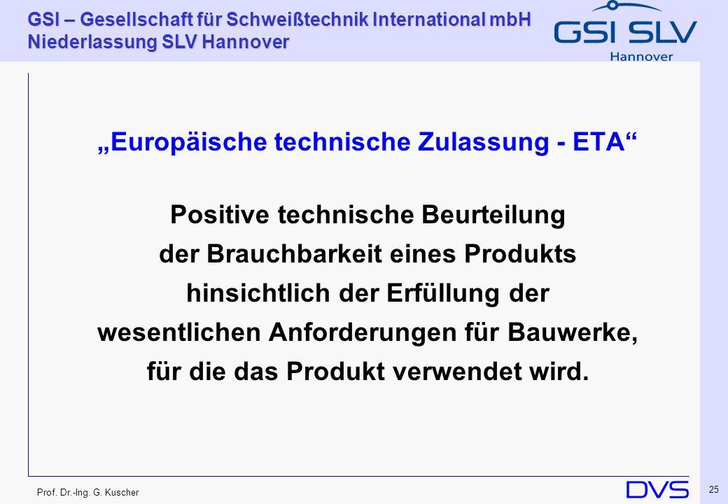 """Europäische technische Zulassung - ETA"