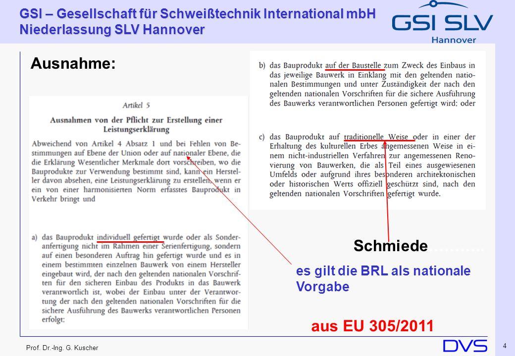 Ausnahme: Schmiede……….. aus EU 305/2011