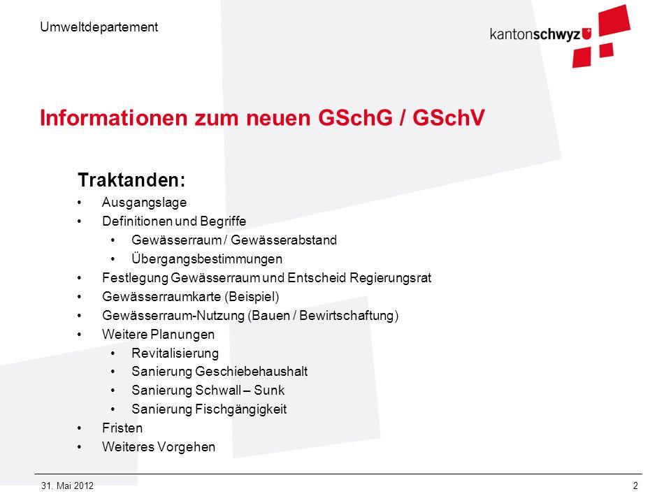 Informationen zum neuen GSchG / GSchV