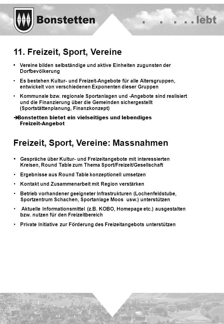 11. Freizeit, Sport, Vereine