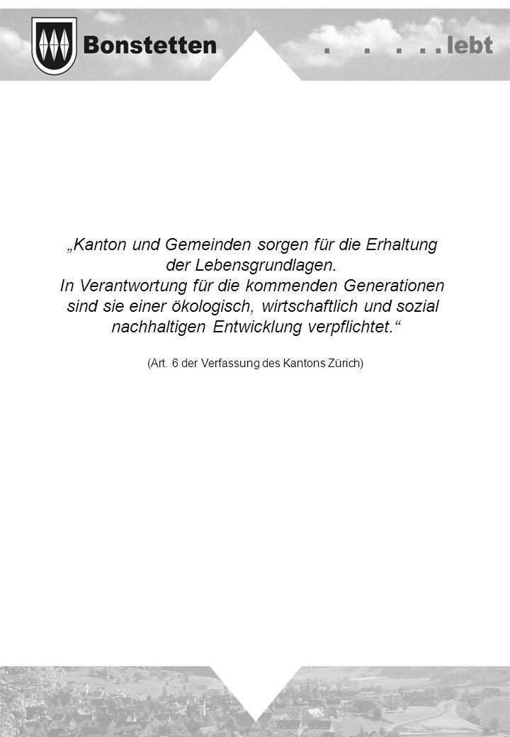 """""""Kanton und Gemeinden sorgen für die Erhaltung der Lebensgrundlagen."""