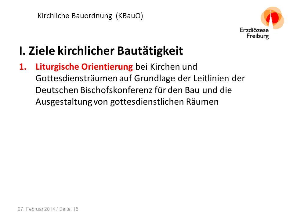 Kirchliche Bauordnung (KBauO)