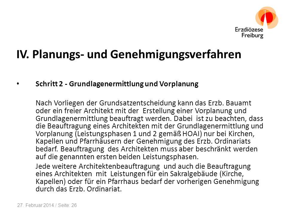 IV. Planungs- und Genehmigungsverfahren