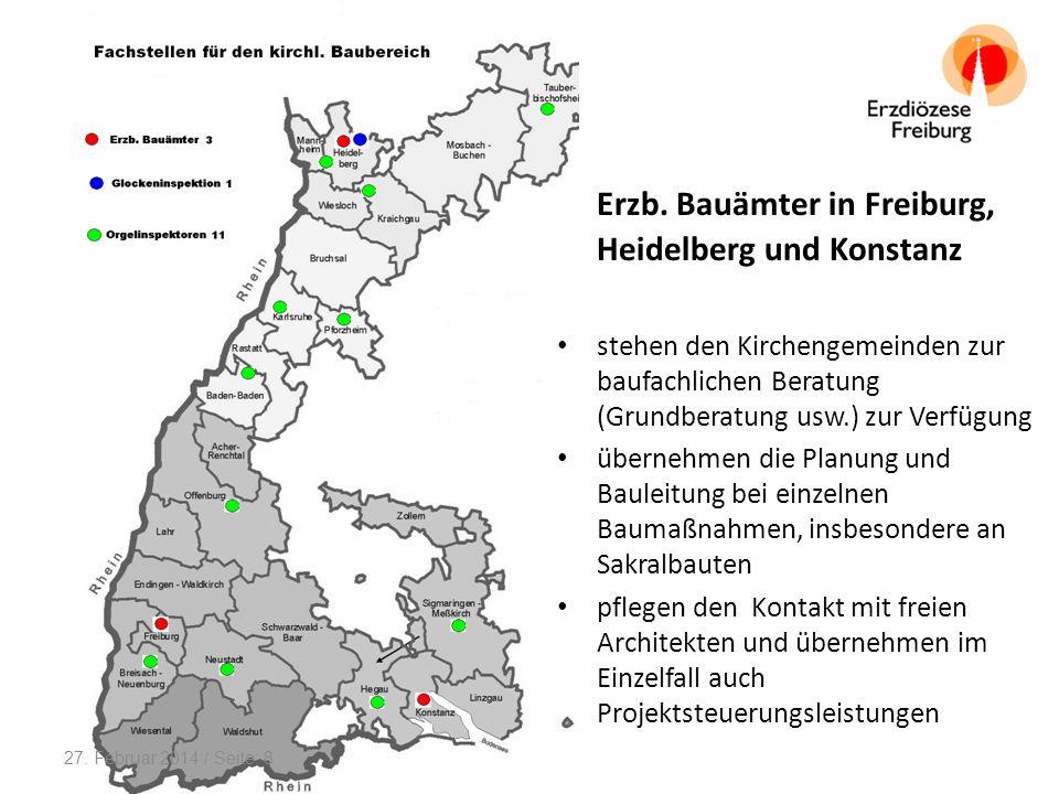 Erzb. Bauämter in Freiburg, Heidelberg und Konstanz