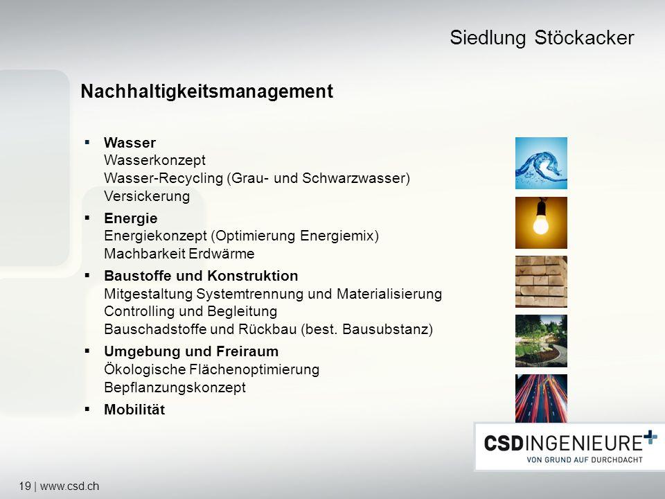 Siedlung Stöckacker Nachhaltigkeitsmanagement