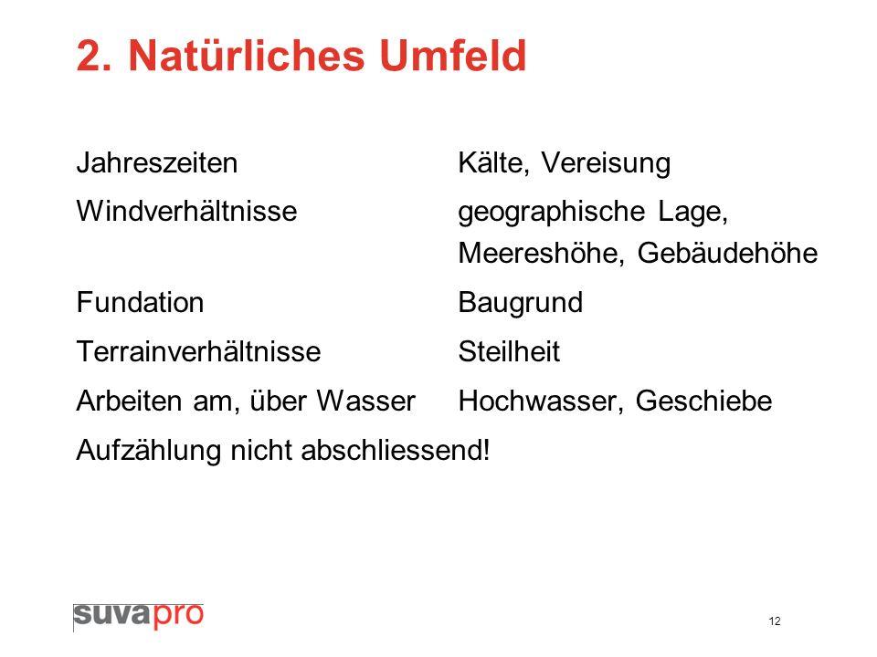 2. Natürliches Umfeld Jahreszeiten Kälte, Vereisung