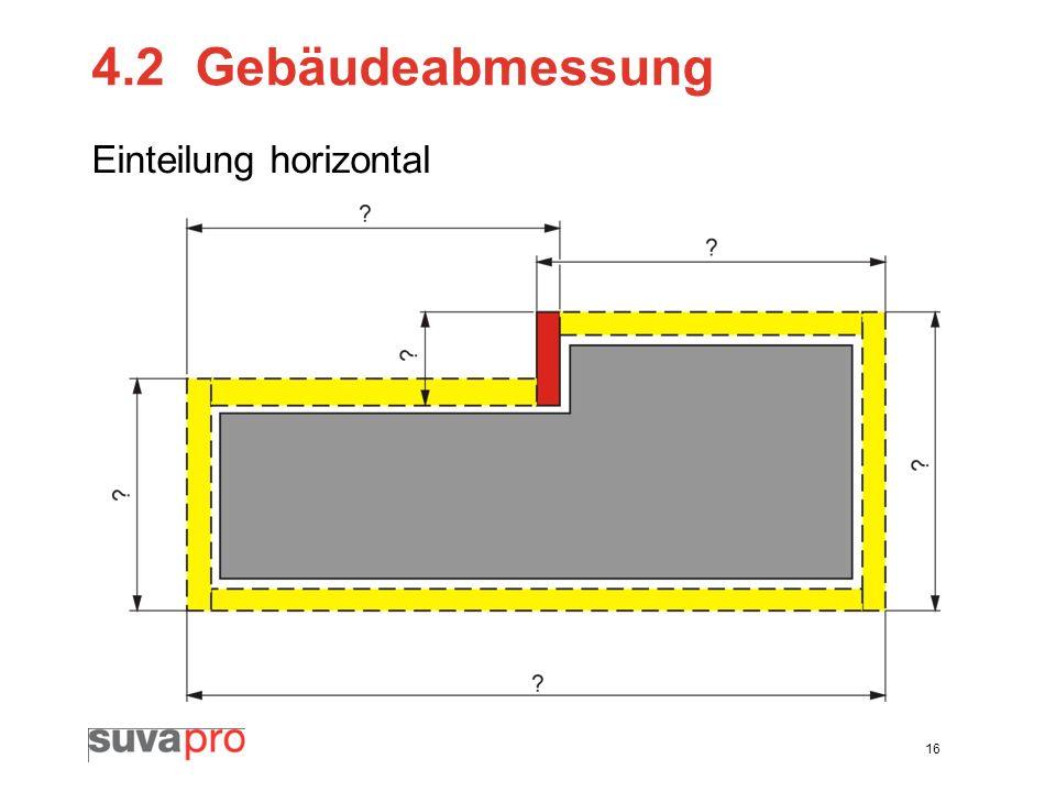 4.2 Gebäudeabmessung Einteilung horizontal