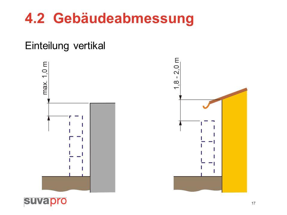 4.2 Gebäudeabmessung Einteilung vertikal