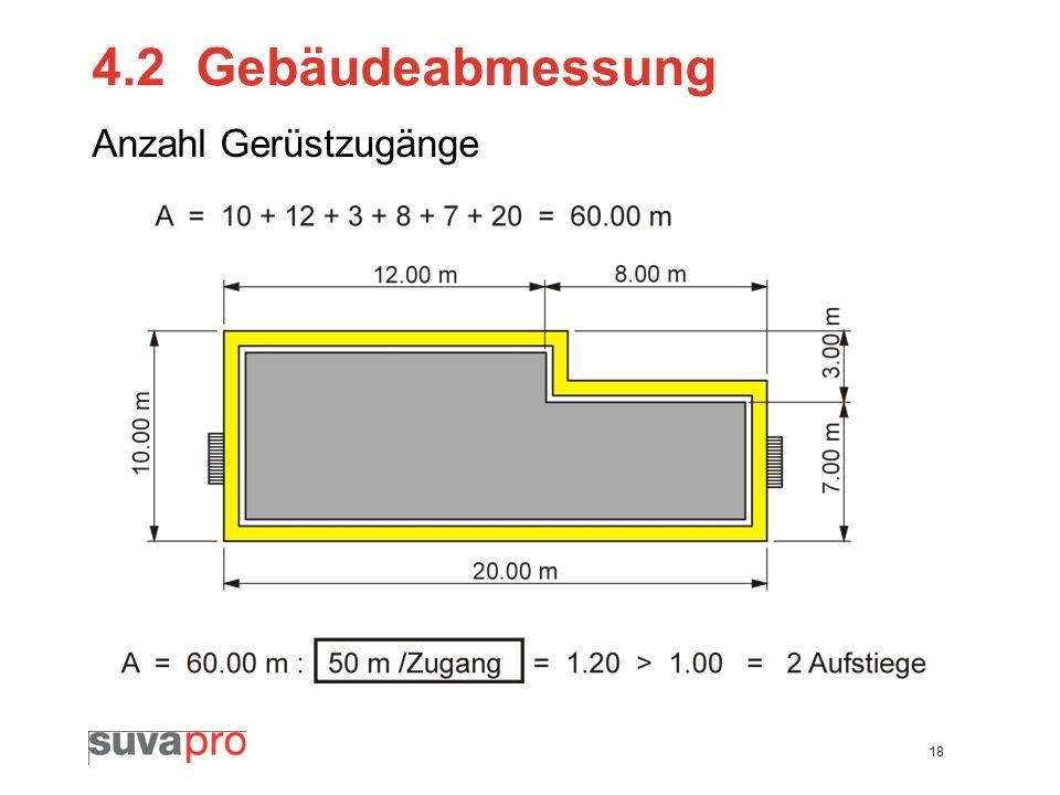 4.2 Gebäudeabmessung Anzahl Gerüstzugänge
