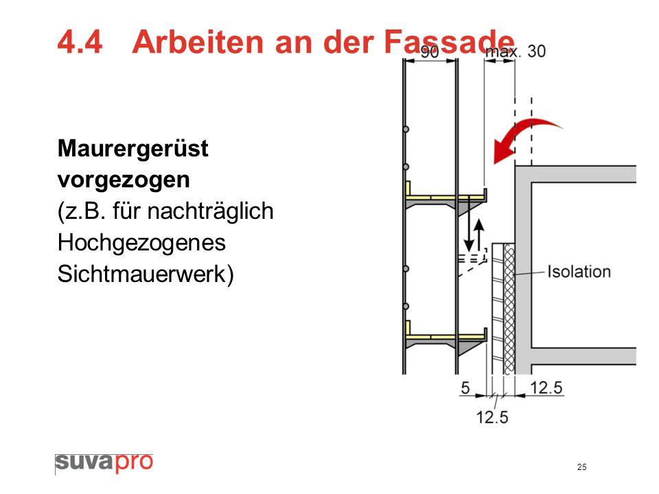 4.4 Arbeiten an der Fassade