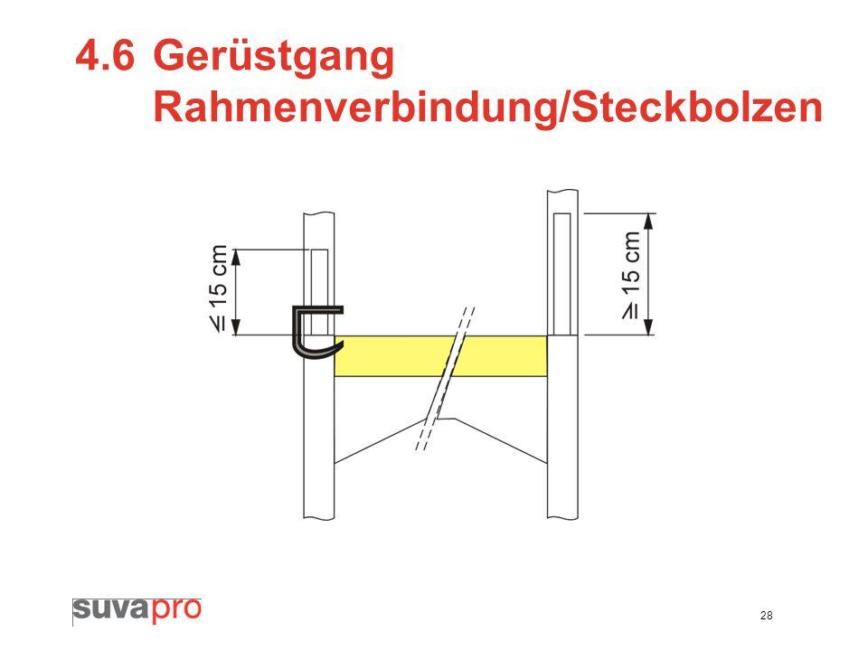 4.6 Gerüstgang Rahmenverbindung/Steckbolzen