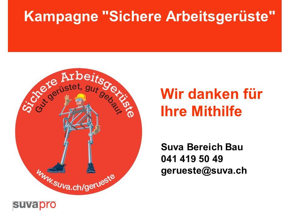 Kampagne Sichere Arbeitsgerüste