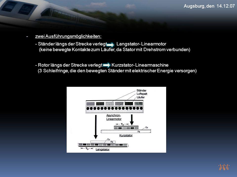Augsburg, den 14.12.07 zwei Ausführungsmöglichkeiten: