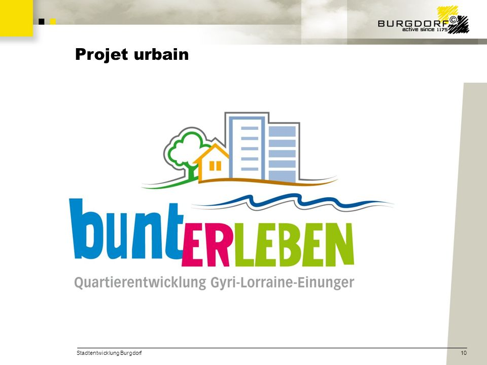 Projet urbain Stadtentwicklung Burgdorf