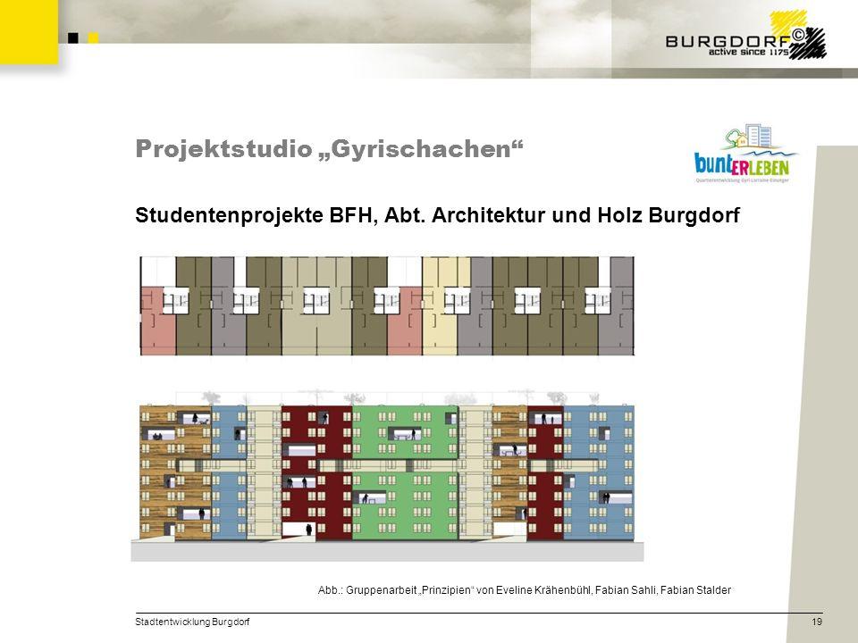 """Projektstudio """"Gyrischachen"""