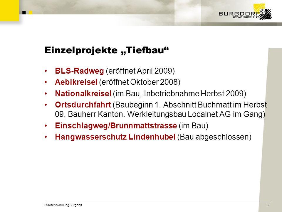 """Einzelprojekte """"Tiefbau"""