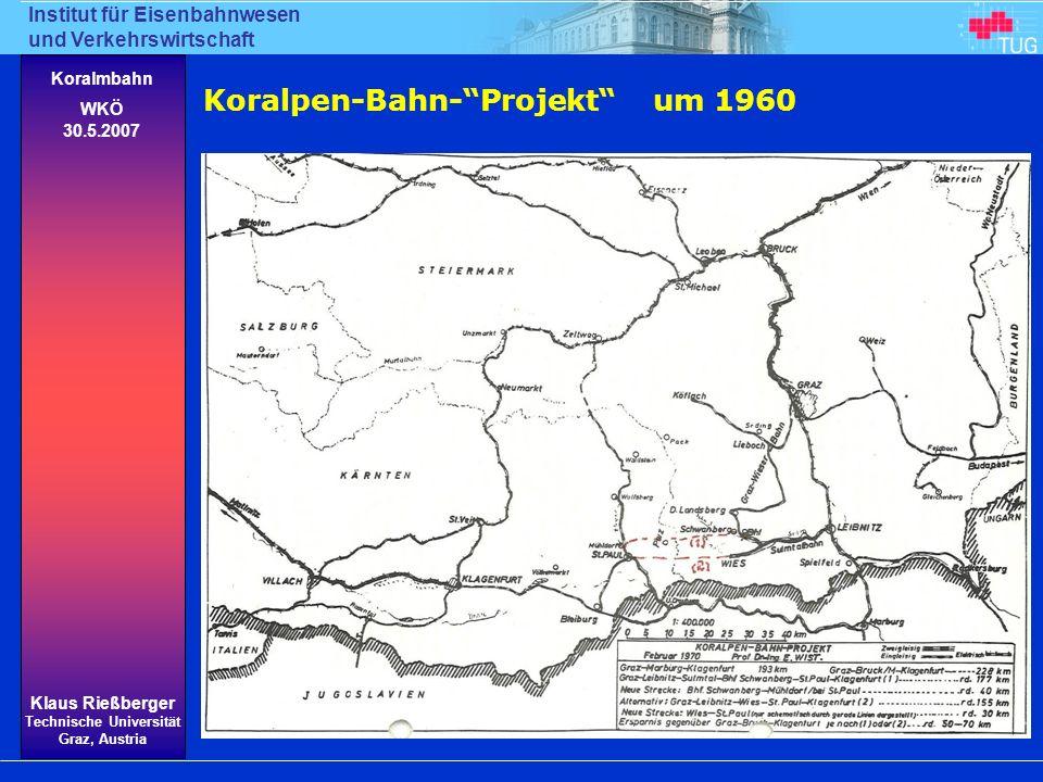 Koralpen-Bahn- Projekt um 1960