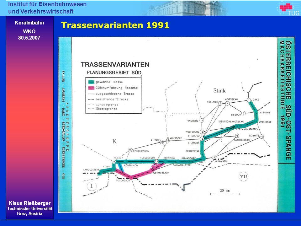 Trassenvarianten 1991
