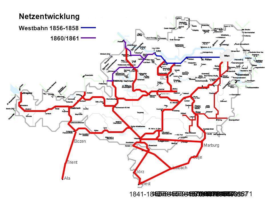 Netzentwicklung 1841-1842-1844-1846-1847-1854-1857