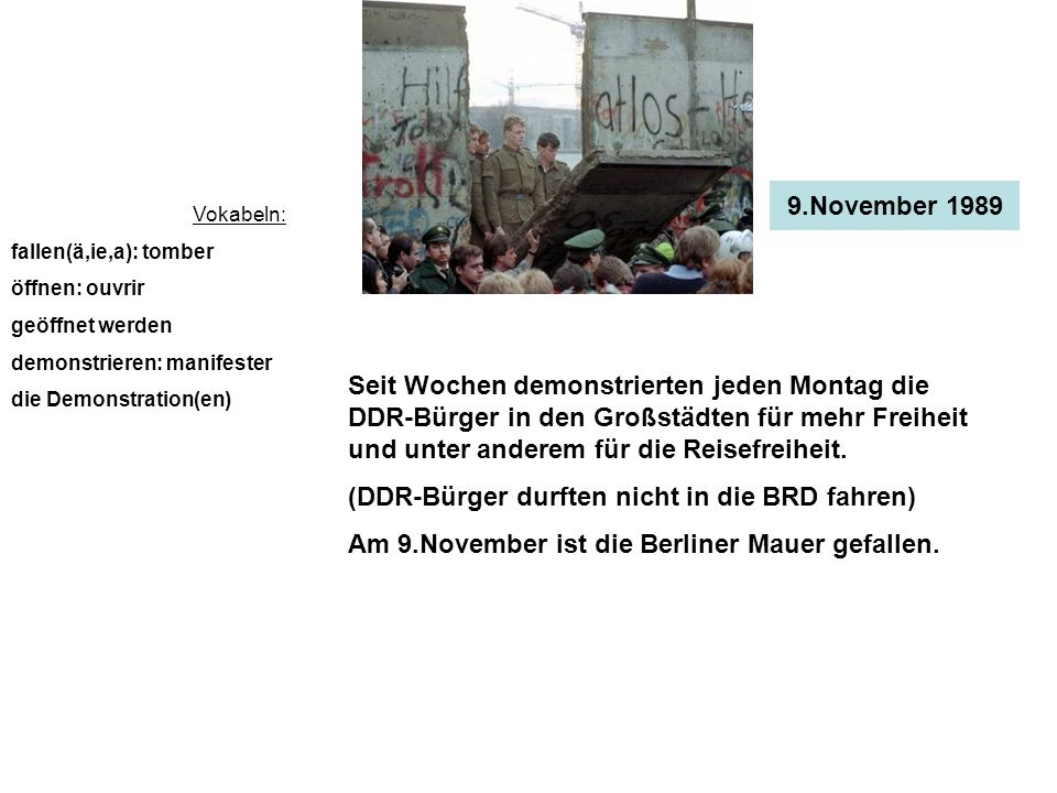 (DDR-Bürger durften nicht in die BRD fahren)