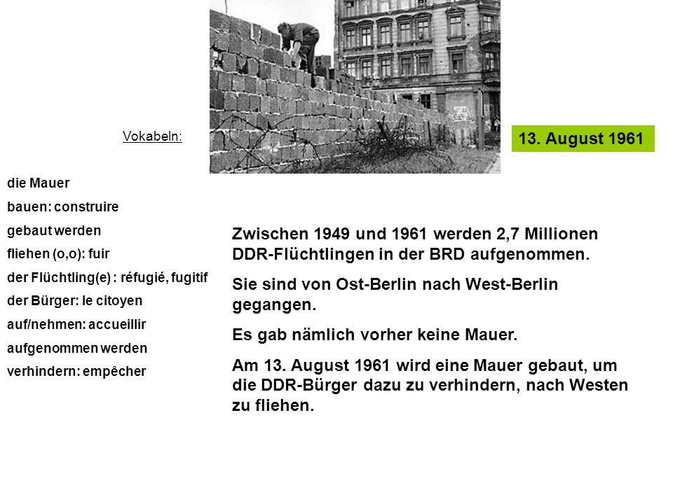 Sie sind von Ost-Berlin nach West-Berlin gegangen.