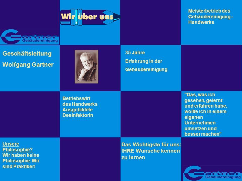 Geschäftsleitung Wolfgang Gartner