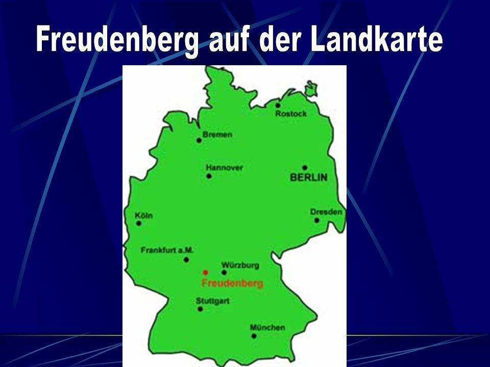 Freudenberg auf der Landkarte