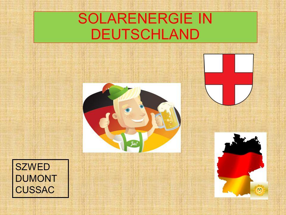 SOLARENERGIE IN DEUTSCHLAND