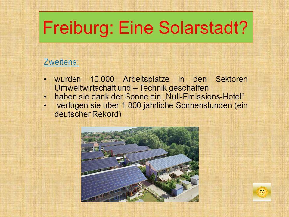 Freiburg: Eine Solarstadt